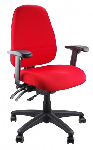 ENDEAVOUR 103A CLERICAL EXECUTIVE CHAIR RED  (price excludes gst)