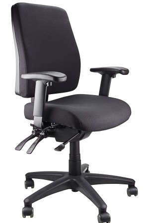 ERGOFORM CLERICAL CHAIR BLACK  (price excludes gst)