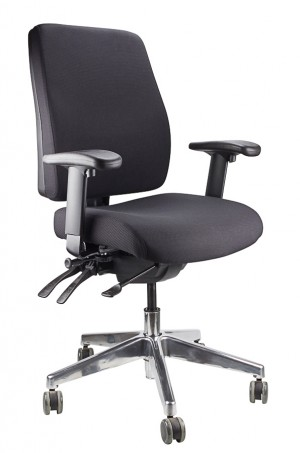 ERGOFORM CLERICAL CHAIR WITH POLISHED BASE BLACK  (price excludes gst)