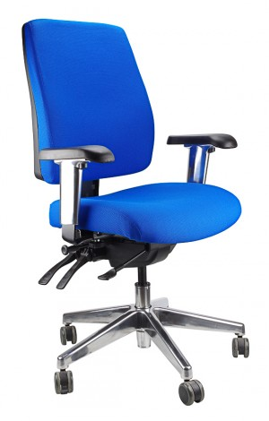 ERGOFORM CLERICAL CHAIR WITH POLISHED BASE BLUE  (price excludes gst)