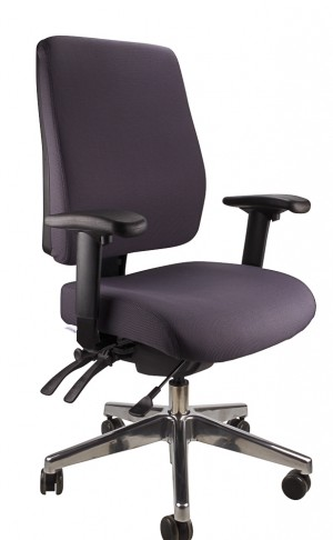 ERGOFORM CLERICAL CHAIR WITH POLISHED BASE CHARCOAL  (price excludes gst)