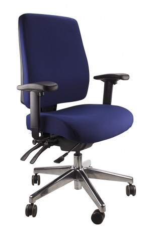 ERGOFORM CLERICAL CHAIR WITH POLISHED BASE NAVY  (price excludes gst)