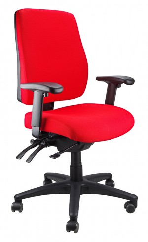 ERGOFORM CLERICAL CHAIR RED  (price excludes gst)