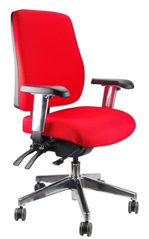 ERGOFORM CLERICAL CHAIR WITH POLISHED BASE RED  (price excludes gst)