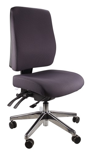 ERGOFORM TYPIST CHAIR WITH POLISHED BASE CHARCOAL  (price excludes gst)