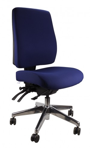 ERGOFORM TYPIST CHAIR WITH POLISHED BASE NAVY  (price excludes gst)