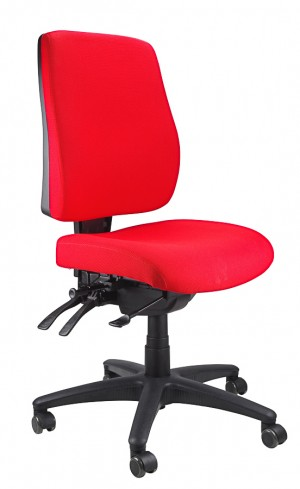 ERGOFORM TYPIST CHAIR RED  (price excludes gst)