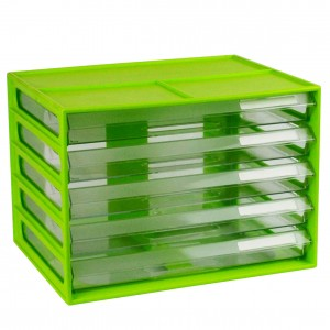 DOCUMENT CABINET A4 5 DRAWER LIME #I-326FL  (price excludes gst)