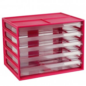 DOCUMENT CABINET A4 5 DRAWER WATERMELON #I-326FW  (price excludes gst)