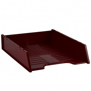 DOCUMENT TRAY STACKABLE ITALPLAST BURGUNDY #I-60BUR