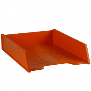 MULTIFIT DOCUMENT TRAY STACKABLE MANDARIN #I-60FM  (price excludes gst)