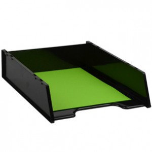 DOCUMENT TRAY STACKABLE ITALPLAST Recycled BLACK #I-60GR