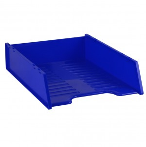 DOCUMENT TRAY STACKABLE ITALPLAST ROYAL BLUE #I-60RB