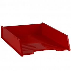 DOCUMENT TRAY STACKABLE ITALPLAST RED #I-60RED