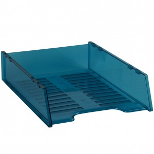 DOCUMENT TRAY STACKABLE TINTED BLUE #I-60TBL