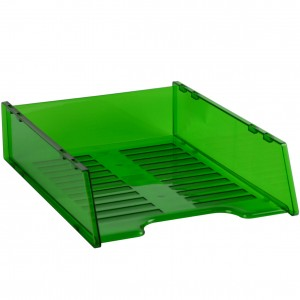DOCUMENT TRAY STACKABLE TINTED GREEN #I-60TGN
