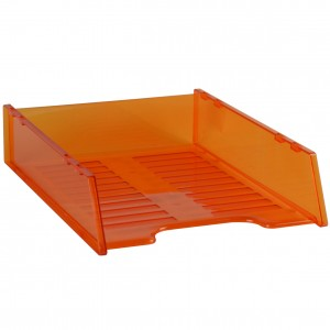 DOCUMENT TRAY STACKABLE TINTED ORANGE #I-60OR
