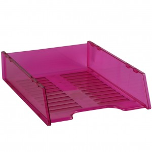 DOCUMENT TRAY STACKABLE TINTED PINK #I-60PN