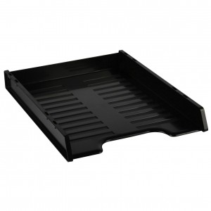 SLIMLINE DOCUMENT TRAYS STACKABLE BLACK #I-65BLK  (price excludes gst)