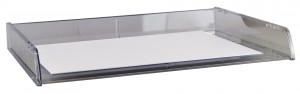 DOCUMENT TRAY A3 STACKABLE CLEAR #I-90CLR  (price excludes gst)