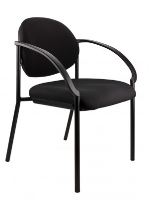 JACKSON STACKABLE VISITORS CHAIR BLACK  (price excludes gst)