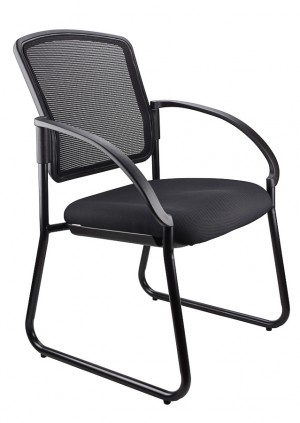 JORDAN VISITORS CHAIR BLACK  (price excludes gst)