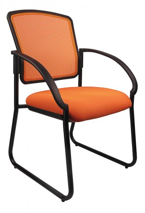JORDAN VISITORS CHAIR ORANGE  (price excludes gst)