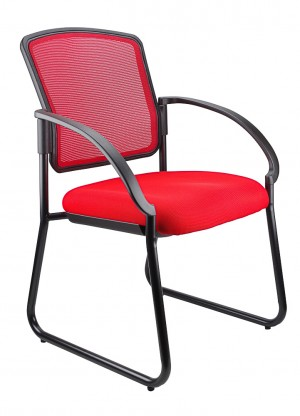 JORDAN VISITORS CHAIR RED  (price excludes gst)