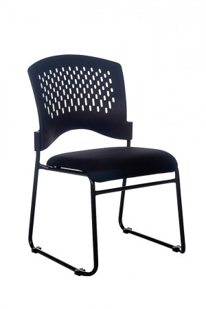 JUPITER STACKABLE VISITORS CHAIR BLACK SEAT  (price excludes gst)