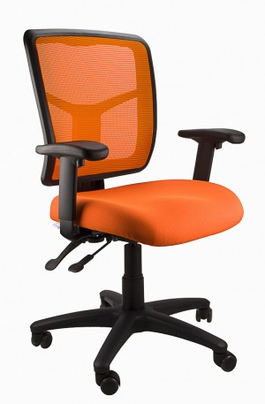 MESH KIMBERLY CLERICAL CHAIR ORANGE  (price excludes gst)