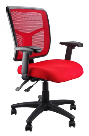 MESH KIMBERLY CLERICAL CHAIR RED  (price excludes gst)