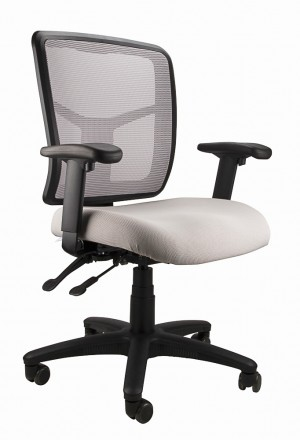 MESH KIMBERLY CLERICAL CHAIR SILVER  (price excludes gst)