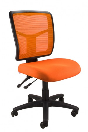 MESH KIMBERLY TYPIST CHAIR ORANGE  (price excludes gst)