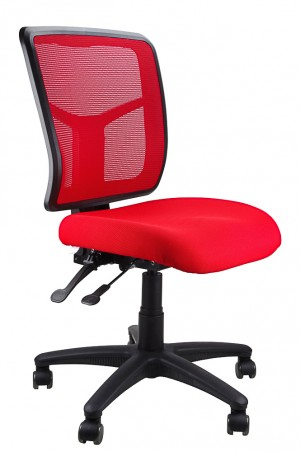 MESH KIMBERLY TYPIST CHAIR RED  (price excludes gst)