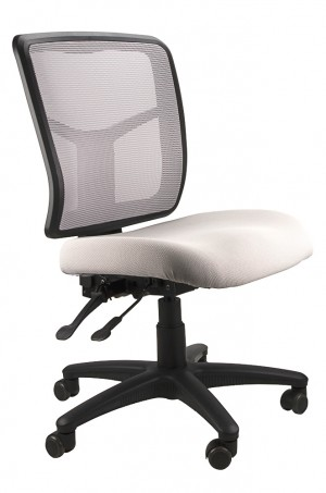 MESH KIMBERLY TYPIST CHAIR SILVER  (price excludes gst)