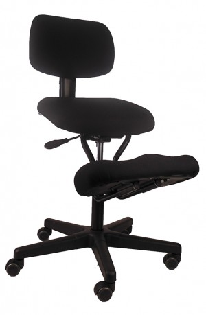 KNEEL ON + CHAIR BLACK   (price excludes gst)