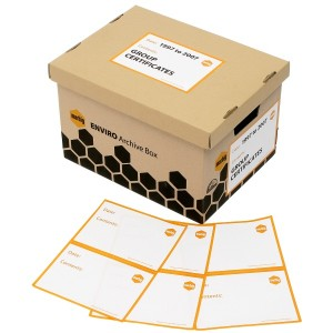 ARCHIVE BOX LABELS MARBIG #LB10010 (PKT 20) (price excludes GST)