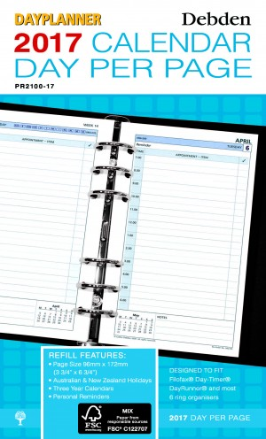 2019 DAY PLANNER REFILL DAILY DATED PR-2100 (price excludes gst)