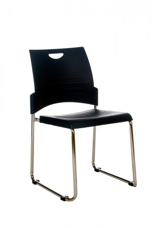 PLUTO STACKABLE VISITORS CHAIR BLACK  (price excludes gst)