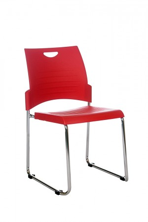 PLUTO STACKABLE VISITORS CHAIR RED  (price excludes gst)