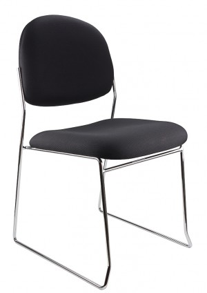 STATELINE ROD STACKABLE VISITORS CHAIR BLACK  (price excludes gst)