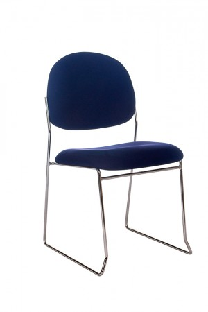 STATELINE ROD STACKABLE VISITORS CHAIR NAVY  (price excludes gst)