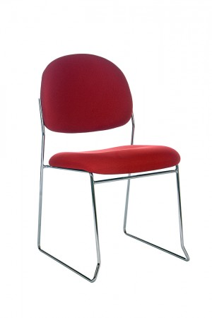 STATELINE ROD STACKABLE VISITORS CHAIR RED  (price excludes gst)