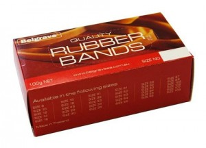 RUBBER BANDS #106 100g (price excludes gst)