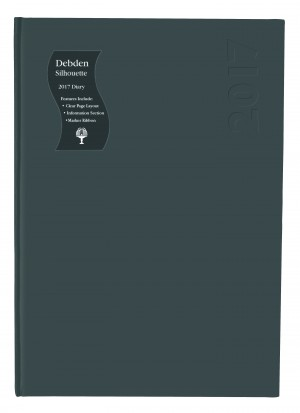 2021 COLLINS DEBDEN SILHOUETTE DIARY S4100 A4 1 DAY TO A PAGE BLACK