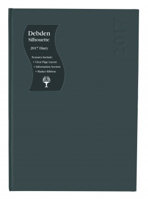 2021 COLLINS DEBDEN SILHOUETTE DIARY S5100 A5 1 DAY TO A PAGE BLACK