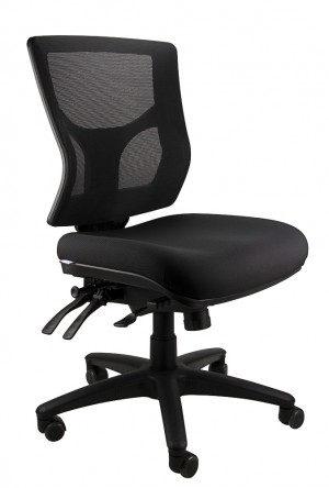 MESH SEVILLE MEDIUM BACK TYPIST CHAIR BLACK  (price excludes gst)
