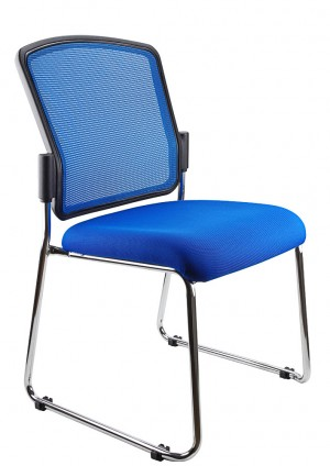 SPENCER STACKABLE VISITORS CHAIR BLUE  (price excludes gst)