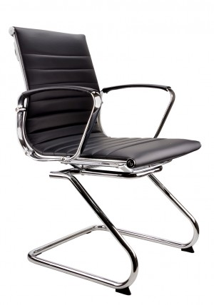 SYMPHONY VISITORS CANTILEVER CHAIR BLACK  (price excludes gst)