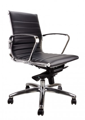 SYMPHONY PU EXECUTIVE CHAIR BLACK  (price excludes gst)